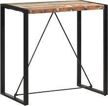 vidaXL Mesa alta de cocina de madera maciza