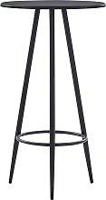 vidaXL Mesa alta de cocina MDF negro 60x107,5 cm