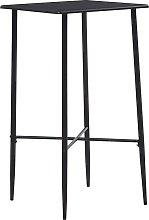 vidaXL Mesa alta de cocina MDF negro 60x60x111 cm