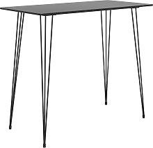 vidaXL Mesa alta de cocina negro 120x60x105 cm