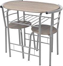 vidaXL Mesa alta de cocina o bar y taburetes MDF