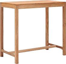 vidaXL Mesa alta de jardín de madera maciza de