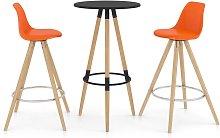 vidaXL Mesa alta y taburetes de bar 3 piezas