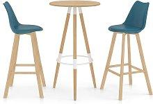 Vidaxl - Mesa alta y taburetes de bar 3 piezas
