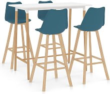 Vidaxl - Mesa alta y taburetes de bar 5 piezas