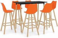 Vidaxl - Mesa alta y taburetes de bar 7 piezas