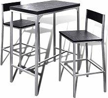 vidaXL Mesa alta y taburetes de barra de cocina -
