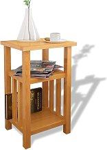 vidaXL Mesa auxiliar con estante de madera de