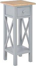 vidaXL Mesa auxiliar de madera gris 27x27x65,5 cm