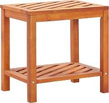 vidaXL Mesa auxiliar de madera maciza acacia