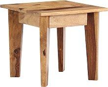 vidaXL Mesa auxiliar de madera maciza de sheesham
