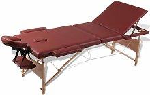 Vidaxl - Mesa camilla de masaje de madera plegable