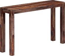 vidaXL Mesa consola 120x30x76 cm madera maciza de