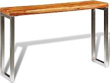 vidaXL Mesa consola de madera de sheesham maciza y