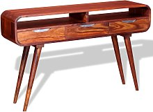 vidaXL Mesa consola de madera maciza de sheesham