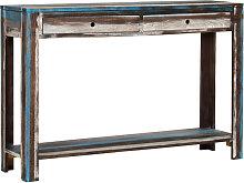 vidaXL Mesa consola de madera maciza vintage