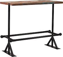 vidaXL Mesa de bar de madera maciza reciclada