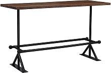 vidaXL Mesa de bar madera maciza reciclada marrón