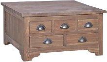 vidaXL Mesa de centro con tapa abatible madera