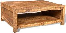 vidaXL Mesa de centro de madera de mango maciza