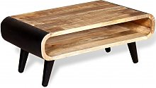 vidaXL Mesa de centro de madera de mango rugosa