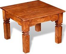 vidaXL Mesa de centro de madera maciza 60x60x45 cm