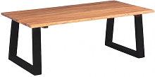 vidaXl Mesa de centro madera de acacia maciza