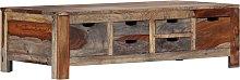 vidaXL Mesa de centro madera maciza de sheesham