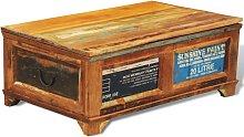 vidaXL Mesa de centro vintage con almacenaje