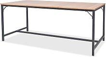 vidaXL Mesa de comedor de madera de fresno