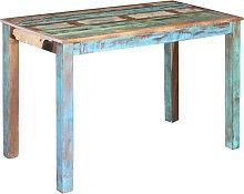 vidaXL Mesa de comedor de madera maciza reciclada