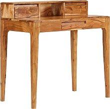 vidaXL Mesa de escritorio con cajones de madera