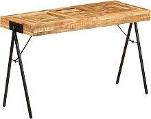 vidaXL Mesa de escritorio de madera maciza de