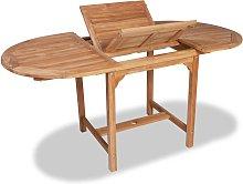 vidaXL Mesa de jardín extensible madera teca