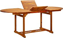 vidaXL Mesa de jardín madera maciza de acacia