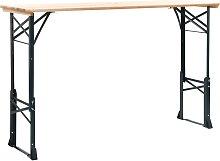 vidaXL Mesa de jardín plegable madera de pino