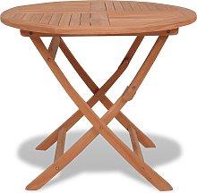 vidaXL Mesa de jardín plegable madera de teca