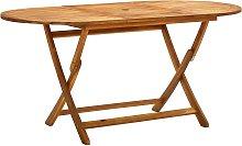 vidaXL Mesa de jardín plegable madera maciza de