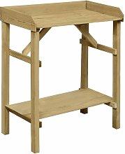 vidaXL Mesa de jardinera madera de pino impregnada
