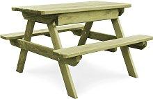 vidaXL Mesa de picnic con bancos madera pino