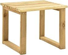 vidaXL Mesa de tumbona madera de pino impregnada