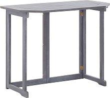 vidaXL Mesa plegable de balcón madera de acacia