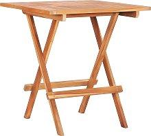 vidaXL Mesa plegable de bistró de madera maciza