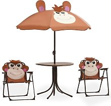 vidaXL Mesa y sillas de jardín infantil 3 piezas