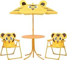 vidaXL Mesa y sillas de jardín infantil 3 pzas