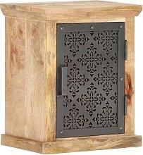 vidaXL Mesita de noche con puerta madera maciza de