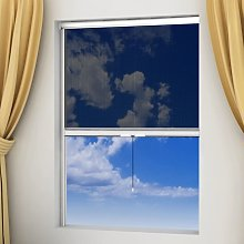vidaXL Mosquitera blanca enrollable para ventanas,