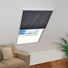 vidaXL Mosquitera plisada para ventanas aluminio