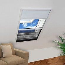 vidaXL Mosquitera plisada para ventanas contra el