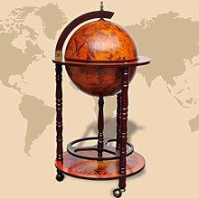vidaXL Mueble bar de bola del mundo madera de